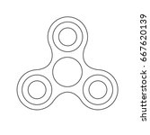 fidget spinner isolated on... | Shutterstock . vector #667620139