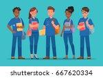 student character vector design | Shutterstock .eps vector #667620334