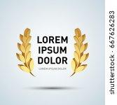 wreath vector icon.  laurel... | Shutterstock .eps vector #667626283