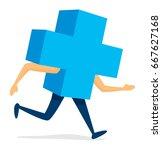 cartoon illustration of health... | Shutterstock .eps vector #667627168