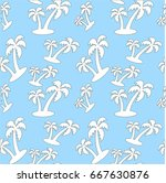 palm tree seamless pattern... | Shutterstock .eps vector #667630876