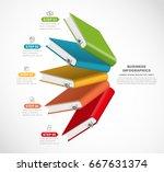 3d book options  vector... | Shutterstock .eps vector #667631374