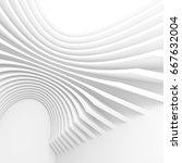futuristic architecture... | Shutterstock . vector #667632004