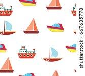 Ships And Boats   Sea Seamless...