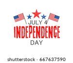 independence day usa  vector... | Shutterstock .eps vector #667637590