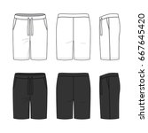 blank clothing templates.... | Shutterstock .eps vector #667645420