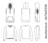 blank clothing templates.... | Shutterstock .eps vector #667645558