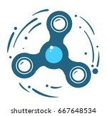 fidget spinner silhouette ... | Shutterstock .eps vector #667648534
