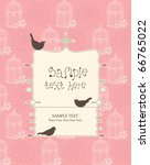 whimsical card design with birds | Shutterstock .eps vector #66765022