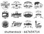 fishing club. vector... | Shutterstock .eps vector #667654714