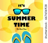 summer time card with... | Shutterstock .eps vector #667656928