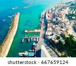 jaffa port in tel aviv  israel  ... | Shutterstock . vector #667659124
