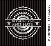 between love and hate silvery... | Shutterstock .eps vector #667662310