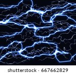 bright realistic flash of... | Shutterstock .eps vector #667662829