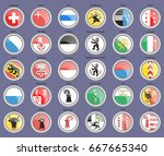 set of icons. cantons of... | Shutterstock .eps vector #667665340