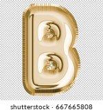brilliant letter alphabet b... | Shutterstock . vector #667665808