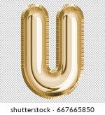 brilliant letter alphabet u... | Shutterstock . vector #667665850