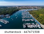 aerial view of the marina in... | Shutterstock . vector #667671508