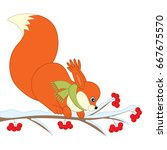Vector Squirrel Sitting On...