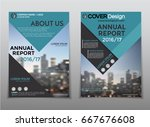 cover design annual report... | Shutterstock .eps vector #667676608