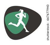 running girl  vector... | Shutterstock .eps vector #667677940