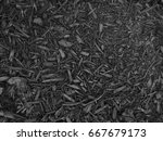 Black Mulch Or Bark Background
