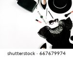 trendy fashion black styled... | Shutterstock . vector #667679974