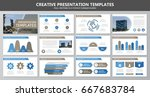 set of brown and blue elements... | Shutterstock .eps vector #667683784