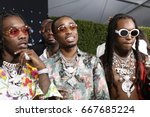 los angeles   jun 25   migos ... | Shutterstock . vector #667685224