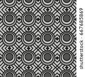 elegant geometric seamless... | Shutterstock .eps vector #667685869