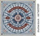Vintage British East India Company Nautical Typography