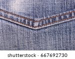 denim jeans background with... | Shutterstock . vector #667692730