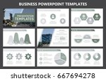 set of gray elements for... | Shutterstock .eps vector #667694278