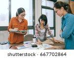 beautiful professional woman... | Shutterstock . vector #667702864