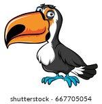 toucan bird with sad face...