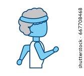 man running cartoon | Shutterstock .eps vector #667708468