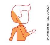 man running cartoon | Shutterstock .eps vector #667709224