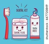 dental health related design | Shutterstock .eps vector #667720849