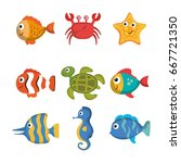 sea life design | Shutterstock .eps vector #667721350