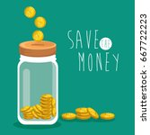 save money concept | Shutterstock .eps vector #667722223