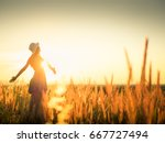 beautiful young woman in a... | Shutterstock . vector #667727494