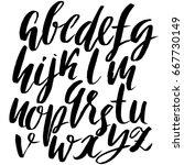 hand drawn elegant calligraphy... | Shutterstock .eps vector #667730149