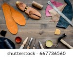 working place of shoemaker.... | Shutterstock . vector #667736560