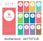 colorful calendar layout for... | Shutterstock .eps vector #667737118