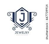 monogram logo template with...   Shutterstock .eps vector #667739914