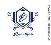 monogram logo template with...   Shutterstock .eps vector #667739938
