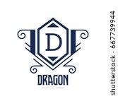 monogram logo template with...   Shutterstock .eps vector #667739944