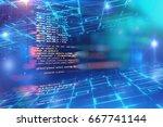 programming code abstract... | Shutterstock . vector #667741144