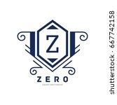 monogram logo template with...   Shutterstock .eps vector #667742158