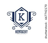 monogram logo template with...   Shutterstock .eps vector #667742170